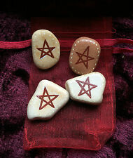 Pentagram Protection CHARM & POUCH Sea Pottery Amulet/Talisman Pagan/Wicca/Witch