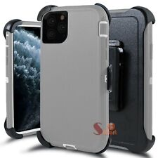 For iPhone 11 / Pro / Max Shockproof Rugged Defender Case Cover With Belt Clip