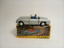Nicky Toys 113 - MG MGB in metallic silver with driver - VGC, Boxed (Dinky copy)