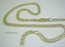 925 Sterling Silver Designer Chain - with Yellow Gold & Rhodium Electroplating