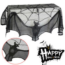 Halloween Bat Lace Props Table Window Curtain Fireplace Cloth Party DIY Black