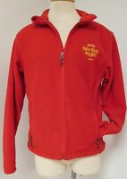 HARD ROCK CAFE PORT AUTHORITY SEMINOLE TAMPA RED FLEECE MENS SIZE SMALL EUC