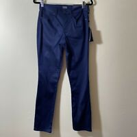 NYDJ Lift Tuck Technology Straight Leg Women's Pants Blue Size 4 New