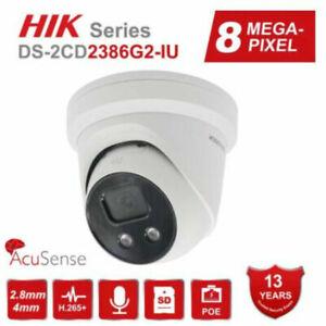 Hikvision 4K 8MP AcuSense DarkFighter DS-2CD2386G2-IU IP Camera PoE Built-in Mic