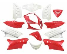 Kit carénage capot 13 parties de carénage blanc rouge peugeot speedfight