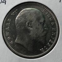 1907 India King Edward 1 Rupee, VF/XF Condition