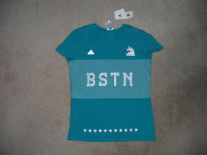 NWT 2016 Adidas Boston Marathon Running Shirt Womens Medium  RUN BABY    RUN TEE