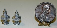 Dollhouse Miniature Salt and Pepper Shakers Silver Island Crafts Minis 1:12