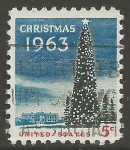 U.S. #1240 5¢ National Christmas Tree with SLOGAN Cancel UNH VF
