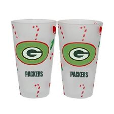 Officially Licensed NFL 2-pack Christmas Pint Glasses ~New ~ PACKERS