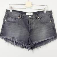 FREE PEOPLE | Womens Black Cutoff Denim Shorts NEW [ Size AU 13 / US 31 ]
