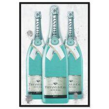 Champagne Bottle Fashion Art Champagne Art Fashion Print Kitchen Wall Art Decor