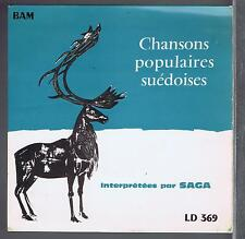 45 RPM EP SWEDEN SAGA & BIRGIT BERGSTROM CHANSONS POPULAIRES SUEDOISES