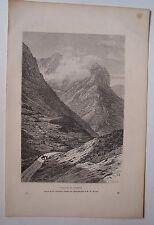 #) gravure sur bois dessin Schrader : passage de Glencoe 1879 Ecosse
