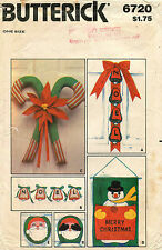 1970's VTG Butterick Christmas Package w/Transfers Pattern 6720