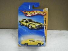 HOT WHEELS- '71 DODGE CHARGER (YELLOW)- 2010 MODELS- NEW ON CARD- L47