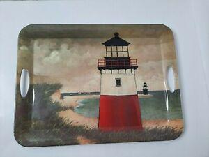 David Carter Brown Lighthouse by the Sea Melamine Tray Sakura Ocean Scene
