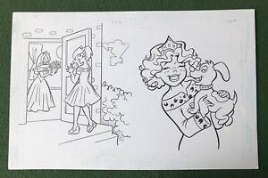 """Original Coloring Book Artwork """"PRINCESS"""" Dan Parent signed by inker puppy"""
