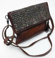 leather shoulder bag - Crossbody Bag - leather handbag - Ethnic bag - Messenger