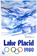 Original Poster Lake Placid Gallucci Winter Olympics 1979 Signed Limited Edition