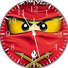 "Lego Ninja Ninjago wall Clock 10"" will be nice Gift and Room wall Decor Z19"