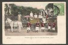 Peru Postcard Lima Procesion Civica 1897 Carro De La Bomba L@@K