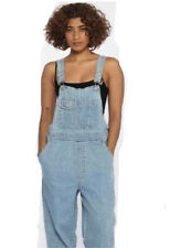 Gap Vintage 90s 1990s Wide Leg Relaxed Denim Overalls Light Blue Wash Size Small