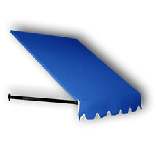 Awntech 4-Feet Dallas Retro Window/Entry Awning, 24 by 42-Inch, Bright Blue