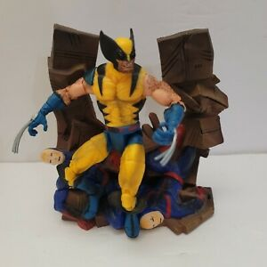 """2003 ToyBiz Marvel Legends Series 3 X-Men WOLVERINE 6"""" Action Figure w/ Diorama"""