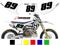 HUSQVARNA MOTOCROSS MX BACKGROUNDS NUMBER PLATES TC FC TE FE TX FX FS 50 - 501