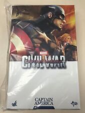 Hot Toys MMS 350 Captain America Civil War Steve Rogers Chris Evans Figure NEW