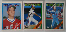 1988 Topps Traded Montreal Expos Team Set of 3 Baseball Cards