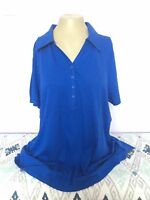 Lane Bryant Blue Plus Size Top Shirt  Supima Cotton Micro Modal 1X 2X,3X,4X New