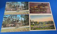 Postcard(s) - GA - (4) ATLANTA - Airport - Floraland - (2)Colonial Motor Lodge