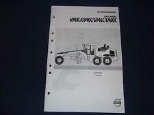 VOLVO G903C G940C G946C G960C GRADER SERVICE SECTION 0 GENERAL SHOP BOOK MANUAL