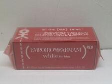 EMPORIO ARMANI WHITE FOR HIM BY GIORGIO ARMANI 3.4 oz 100 ml EDT SPRAY MEN RED