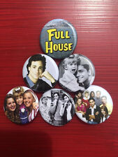 """1.25"""" Full House pin back button set of 6"""