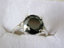 1.70ct REAL BLACK DIAMOND RING,CERTIFICATE,WEDDING,ENGAGEMENT,FREE DIA TESTER S5