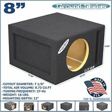 "8"" SINGLE VENTED SLOT PORTED SPEAKER SUB BOX SUBWOOFER ENCLOSURE GROUND-SHAKER"