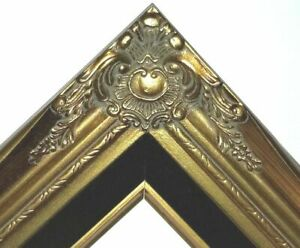 """3"""" Gold Leaf Wood Antique Picture Frame photo art wedding gallery 18x24 637Gb"""