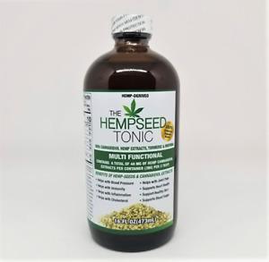 Organic Hemp Seed Tonic with Moringa, Turmeric, and Soursop, 16 Ounces