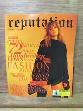 Reputation Volume 1 Taylor Swift Magazine With Cd