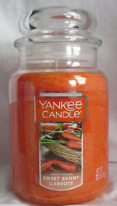 Yankee Candle Large Jar Candle 110-150 hrs 22 oz SWEET BUNNY CARROTS citrus musk