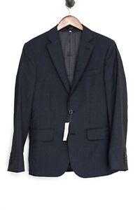 Hardy Amies Mens Sport Coat 38R Gray Black Shepherds Check Wool Heddon Jacket