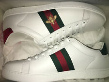 67f31d4bd07 NEW  650 GUCCI Women Ace Embroidered Leather Sneakers Shoes EU 39.5 or 40.5