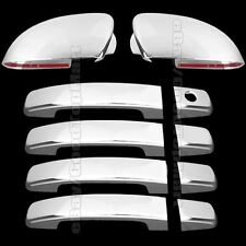 Chrome Covers Set Full Mirrors + 4 Door Handles For 2004-2007 2008 Nissan MAXIMA