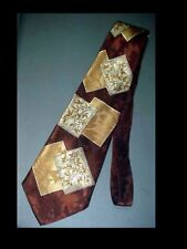 Vintage 1940's Swing Zoot Suit Era Abstract MENS NECK TIE Rayon Acetate