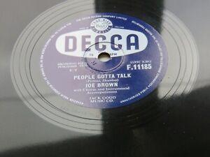 JOE BROWN 1959 UK  78   PEOPLE GOTTA  TALK   COMES THE DAY  DECCA  F.11185   EX+