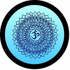 Yoga Mandala Om Flower (teal) Jeep Wrangler Rubicon Liberty Spare Tire Cover