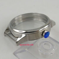42mm parnis 316L stainless steel watch CASE fit eta 6498 6497 movement